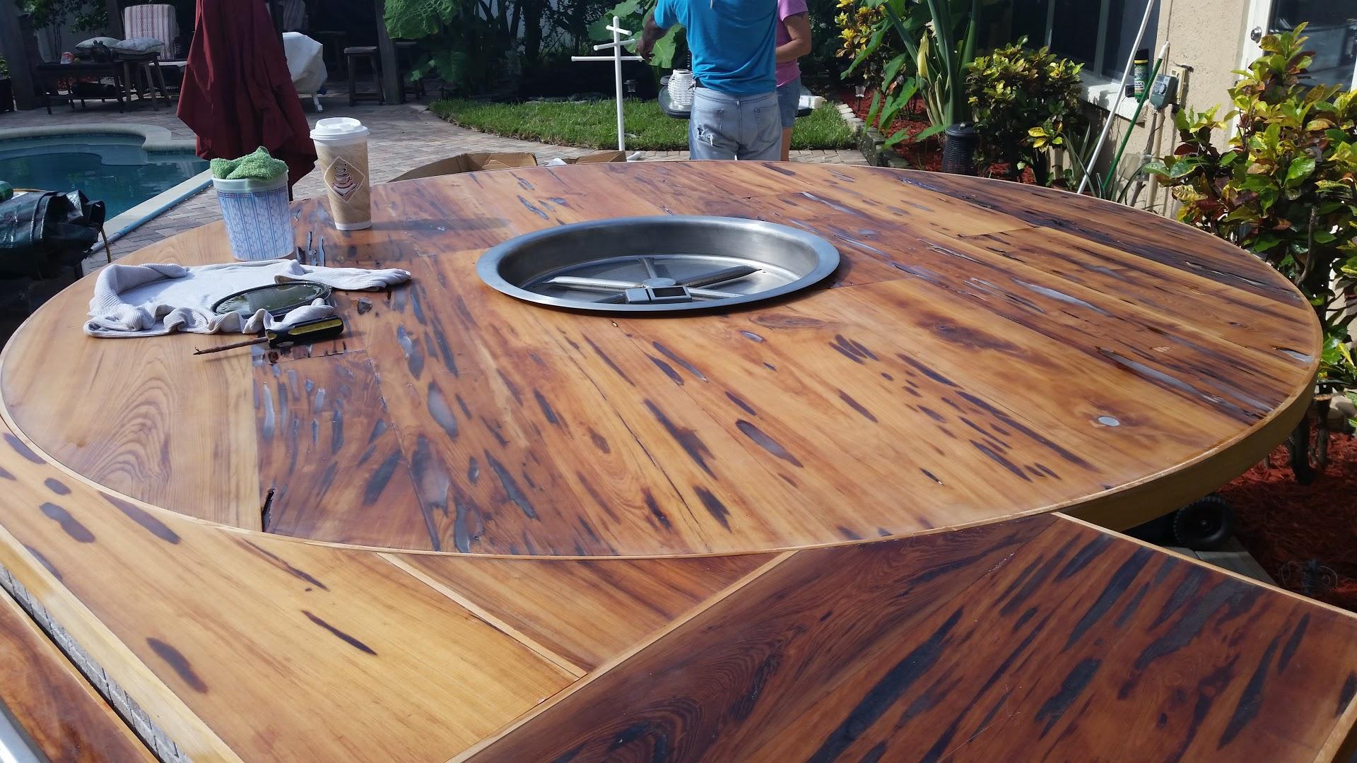 Wood Gaming Table Anderson Lumber